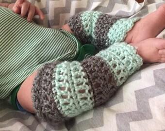 Baby leg warmers, leg warmers, crochet leg warmers, striped leg warmers