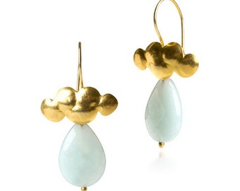 Clouds in the Sky Aventurine Earrings