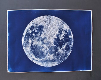 Dark Side of The Moon original print cyanotype blueprint