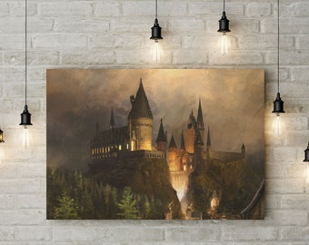 Harry Potter Inspired, Hogwarts Classic Art, Wizarding World, Made to Order Custom Raised Canvas Art Piece