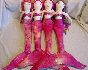 Adopt-a-Mermaid Rag Dolls, by AquaTails - Pink