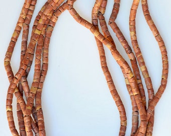 Set of 3 Strands of 4-5mm African Bauxite Beads - Vintage African Trade Beads - 3 x 27 Inch Strands