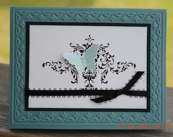 Handcrafted Butterfly Card