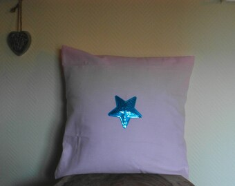 Pillowcase Pink with blue pallets heart