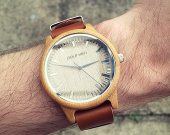 Wood Watch, wooden watch, Men's Wooden Watch, Mens Wood Watch,Wood Watches for him, personalised watch, engraved wood watch, engraved man