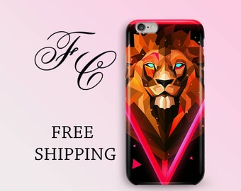 Lion iPhone 6 Plus Case iPhone X Case Animal iPhone 7 Case iPhone SE Case iPhone Plastic Cover iPhone 6 Case iPhone 8 Case iPhone 6s Cases