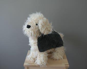 Cute dog plushie, stuffed dog, 12 inch, ready to ship