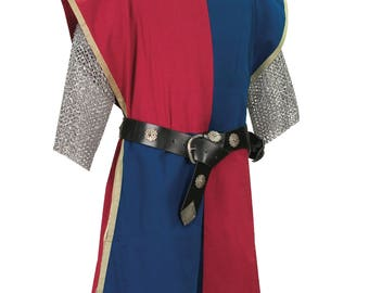 Knightly Tabard with Embroidered Crest: Multi Colored