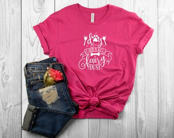 Dog Hair is My Fairy Dust Ladies' Crewneck T-Shirt for Dog Moms | Perfect for Spring and Summer!