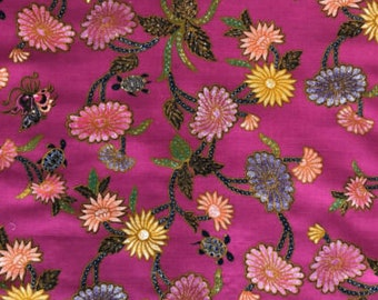 "China Seas ""Turtle Batik"" Fabric Remnant"