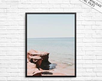 Costal Print, Beach print, Coastal photography, Beach photography, Coastal wall art, Beach wall art, Ocean print, Sea photo, Water art print