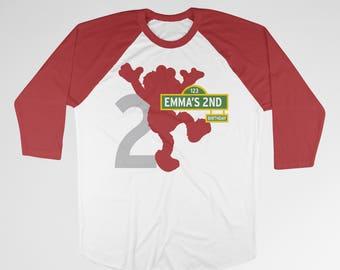 Elmo birthday shirt toddler Sesame Street birthday shirt Toddler birthday elmo t-shirt