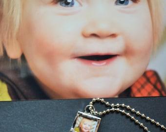 Soldered Charm, Hand Soldered, Soldered Pendant, Soldered Jewelry, Soldered Photo Charm, Silver Solder, Soldered Glass, Photo Charm Necklace