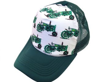 Tractor Green Trucker Hat-Youth Size