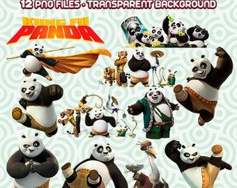 Kung Fu Panda Clipart, Kung Fu Panda PNG, Panda Designs, Panda Collections, Kung Fu Panda, Instant Download 57