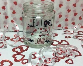 Full of love - valentines sweetie jar