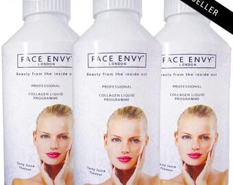 Collagen Drink Liquid Shots PRO Marine Collagen AntiAgeing Supplement 10,000mg PER DAY Summer Fruits Flavour, No1 Best Seller in Beauticians