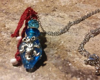 Murano embellished scent bottle necklace