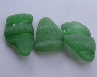 Genuine Beach Glass Jewelry Supply Seaglass Sea Glass Genuine Bottlenecks Green Art Jewelry Supply Authentic