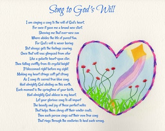 Original Art and Poetry, God's Will, heart strings, Almighty God,