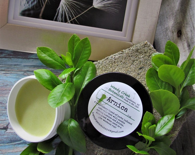 Muscle Rub, Arnica Salve, Arnica Ointment, Arnica Muscle Rub, Natural Pain Relief, Herbal Pain Relief