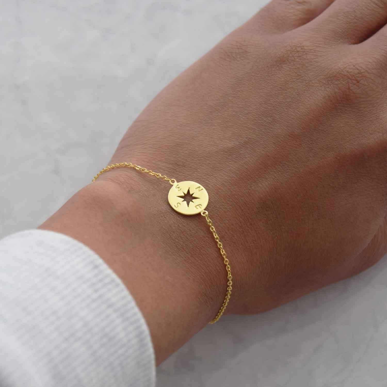 bracelet jewelry chrysalis plated in expandable gold brass bangle compass
