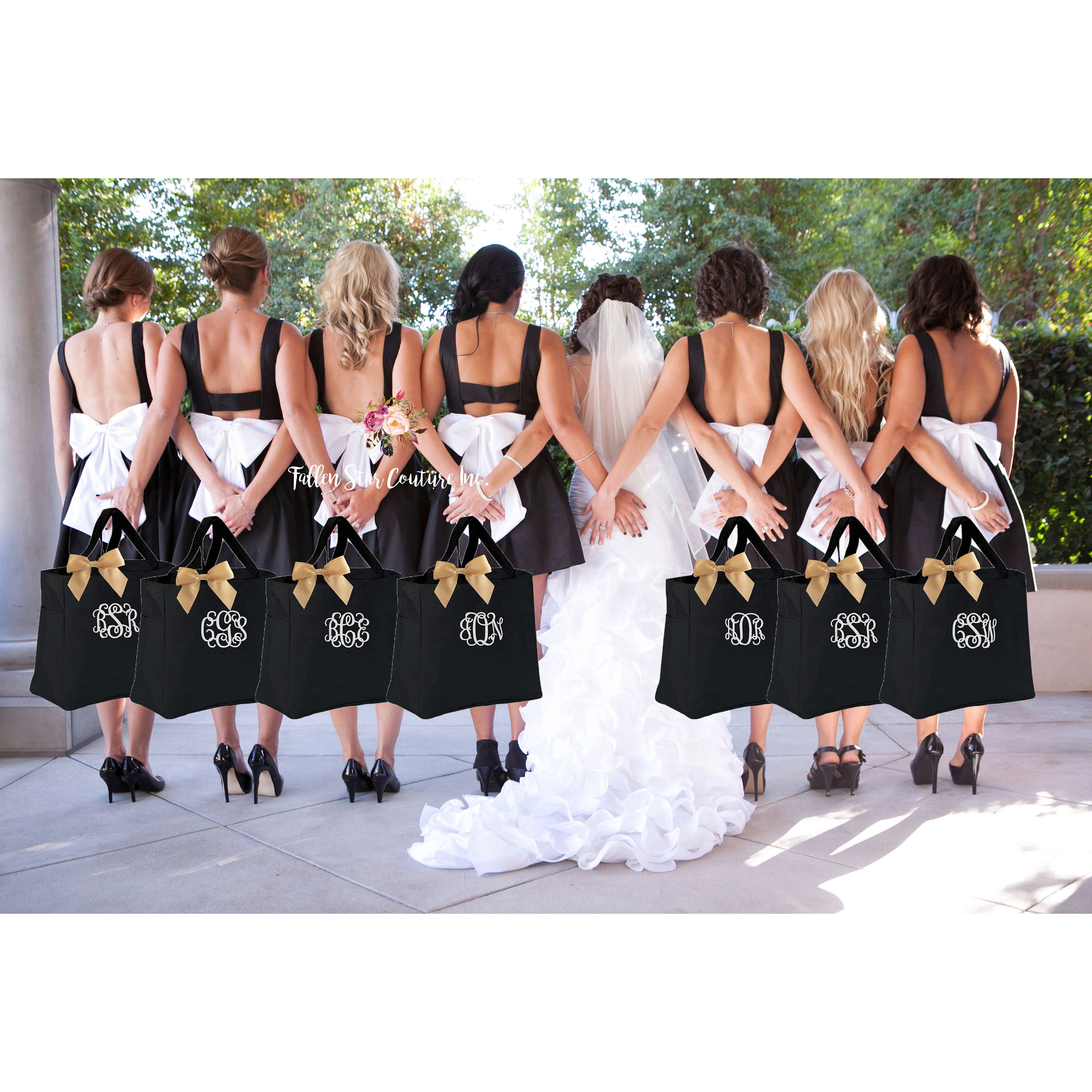 Wedding Party Gifts: 10 Bridal Party Tote Bags Bridesmaid Gifts Personalized