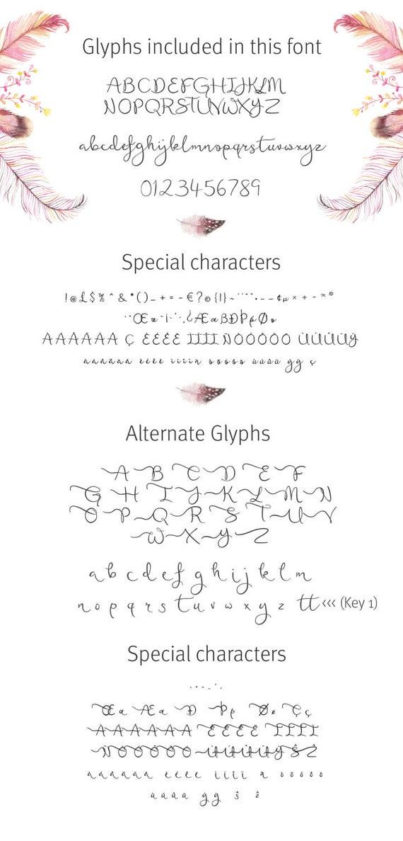 Wedding font Script Font featherly bold font calligraphy font