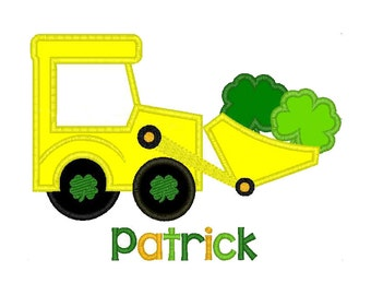 St Patricks Day Shirt, St Patricks Day Outfit, Boys St Patricks Day Shirt, Tractor Shirt, Saint Patricks Day, St Patricks Day Baby, Shamrock