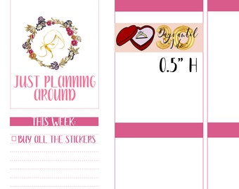 Wedding Countdown Planner Stickers, Wedding Countdown Stickers, Wedding Stickers