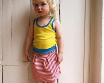 Antje - girls jerseyskirt with box pleats