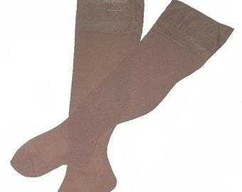 Vintage Back Seam Thigh-High Stockings Sheer Nylon UNUSED in BOX 8.5-9.5 M
