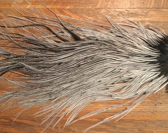 Metz Silver Badger Dry Fly Saddle for Fly Tying and Hair Extensions