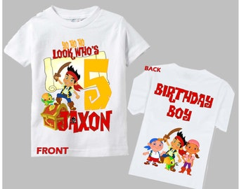 Jake and the Neverland Pirates Shirt - Jake Birthday Boy Shirt