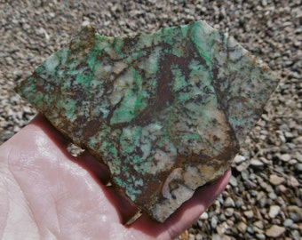 Chrysocolla in Quartz Slab  (90X90X7.5)