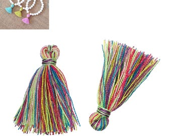 20 tassels fringes charms 20mm - Mulitcolore - SC64867 cotton.