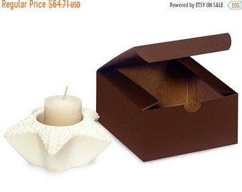 Mothers Day Sale 100 Pack Matte Chocolate Brown Paper Tuck Top Style Packaging Retail Gift Boxes 4X4X2 Inch Size