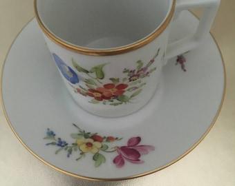 Höchst floral decor espresso kop en schotel