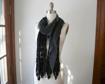 Recycled Mixed Media Scarf - by Breathe-Again Clothing
