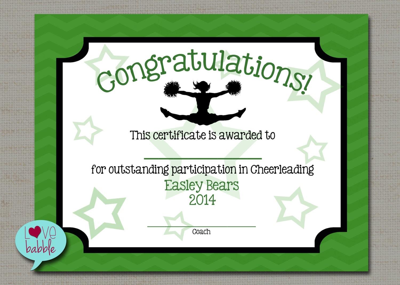 Cheerleading cheer award certificate dance gymnastics award zoom pronofoot35fo Choice Image