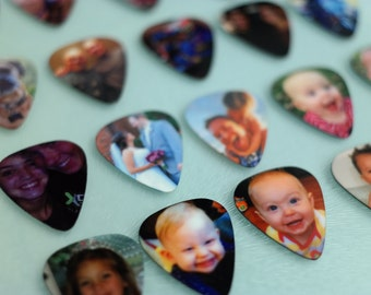 Personalized Guitar Pick, Custom Guitar Pick, Photo Guitar Pick, Photo with Text, Keepsake Gift, Great gift idea for Guitarist!