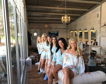 Mismatched Rompers By Silkandmore - Dreamy Angel Song - Bridesmaids Gifts, Bridesmaids Rompers, Bridal Party Rompers, Getting Ready Rompers