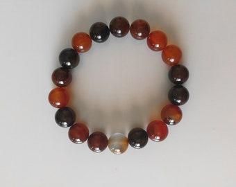 Natural Carnelian beads bracelet