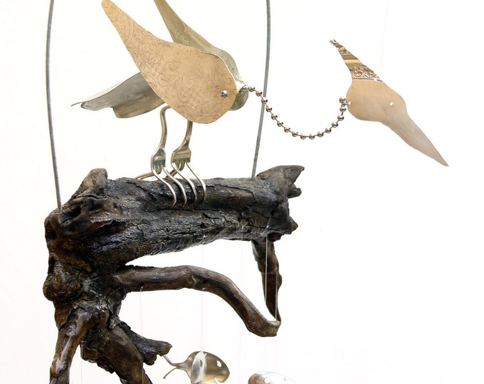 Kinetic Motion Bird Sculpture, Popular Wedding Gift, Father Of The Bride,grooms Parents, Marriage Presents, Anniversary Couple Gifts, Garden