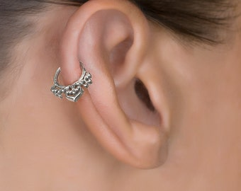 18g Small Hoop Earring. Silver Cartilage Earring. Helix Hoop. Tragus Earring. Silver Tragus Earring. Helix Jewelry. Tragus Ring
