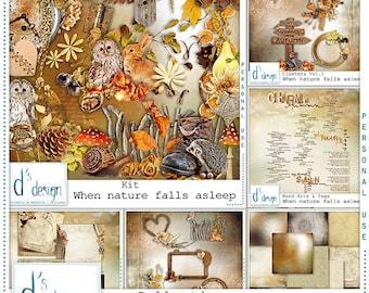 When Nature falls Asleep - Digital Scrapbooking Collection - Automne - Scrapbook - Imprimable