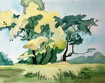 Landscape Water Color 1989
