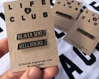 HEAVEN SENT & HELLBOUND Enamel Pins -Life Club- enamel pins, lapel pin, pin, pins, hat pin, pin badge, accessories, badges, punk
