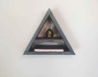 Weathered Gray Triangle Shelf