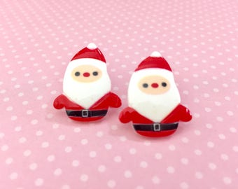 Quirky Santa Claus Novelty Stud Earrings with Surgical Steel Posts